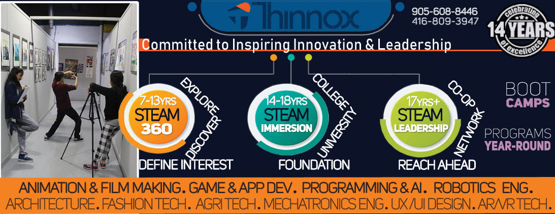 Thinnox Acronym For Think Innovate Excel Thinnox Offers Experiential Stem Courses Programs Computer Education Camps University Preparation And Workshops High School Ossd Credits Leading To Careers In Ted Industry Technology
